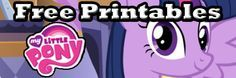 Click here to get FREE My Little Pony printables! They have everything from colouring pages to fun activity pages! Give them away as party favours, or use them to create a fun party activity!