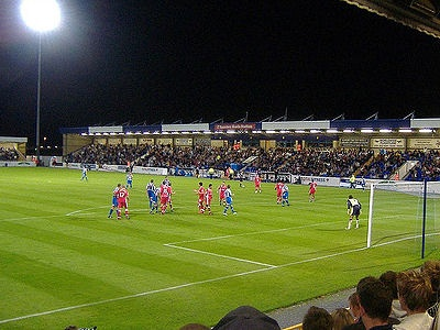Deva Stadium, Chester, where I spent three years watching them lose while I froze to death in the press box. Happy days!