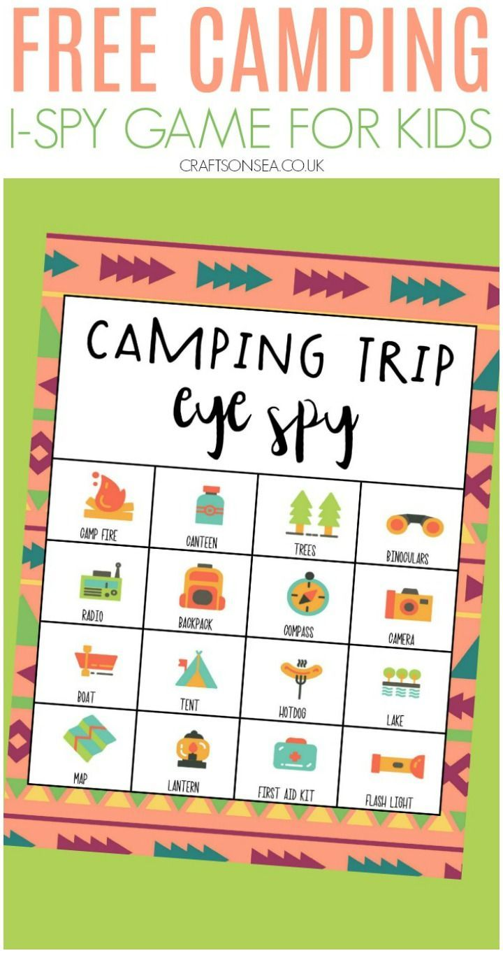 Free I Spy Camping Game For Kids Spy Games For Kids Games For Kids Fun Activities For Toddlers [ 1363 x 720 Pixel ]