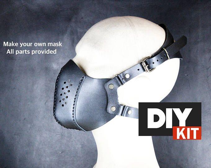 KIT de Steampunk Máscara máscara de Halloween - cuero bricolaje - bricolaje - máscara de cuero