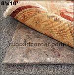 8'x10' No-Muv Rug on Carpet, Rug to Rug Pad