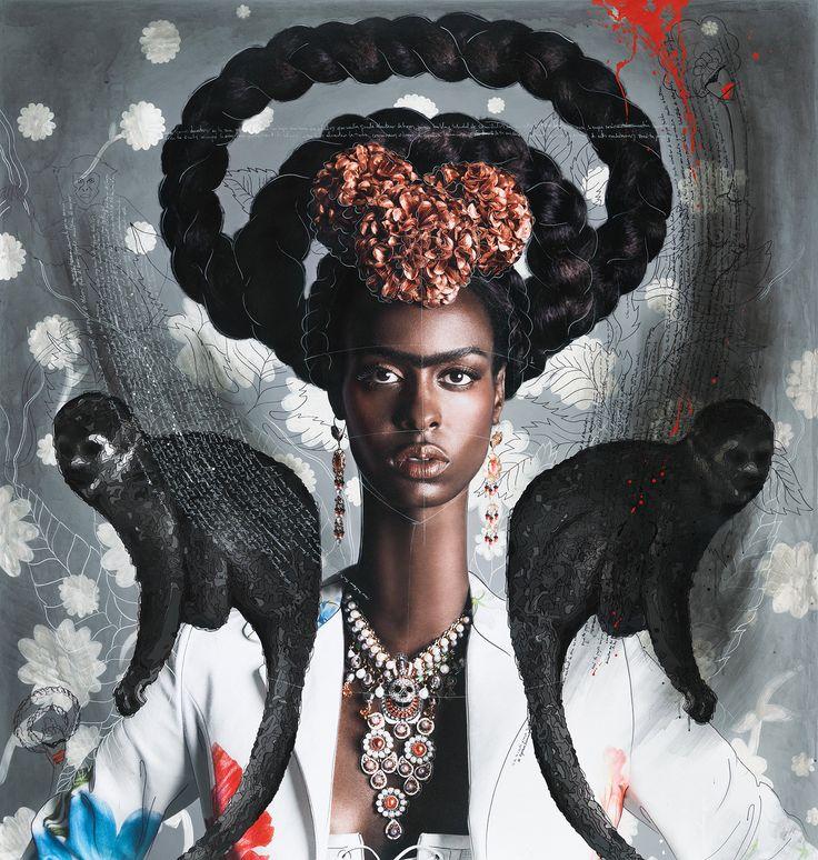 Black Frida with Monkeys - Efren Isaza - pictures, photography, photo art online at LUMAS