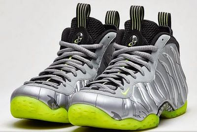 Nike Air Foamposite Metallic Silver/Volt Sneaker Available Now (Detailed Look)