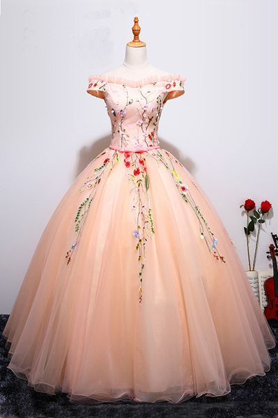 Charming Prom Dress,Tulle Ball Gown Prom Dresses,Sexy Evening
