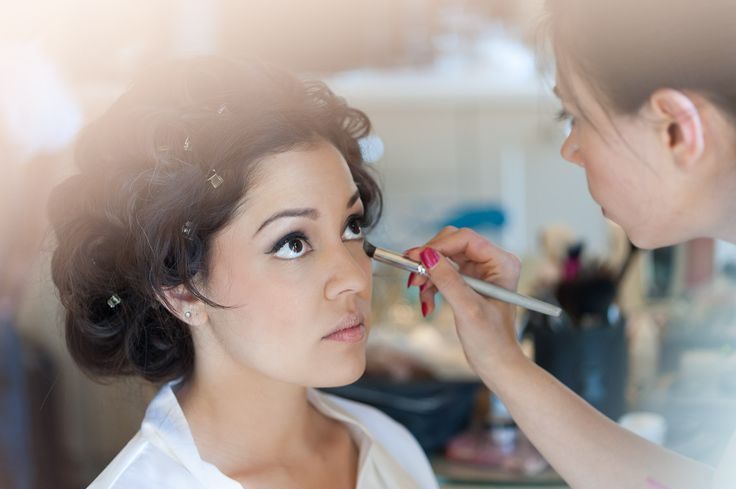 'Getting Ready' The bride's makeup on wedding day.  Sawyer Photography (.ca)