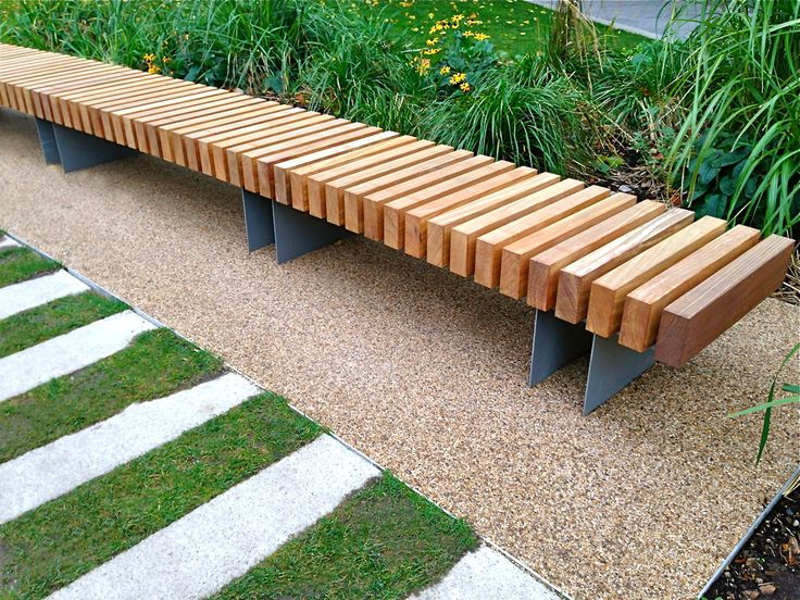 Clifton curved seat woodscape street furniture landscape architecture pinterest gardens