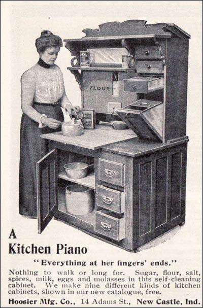 1901 Hoosier Kitchen Cabinet
