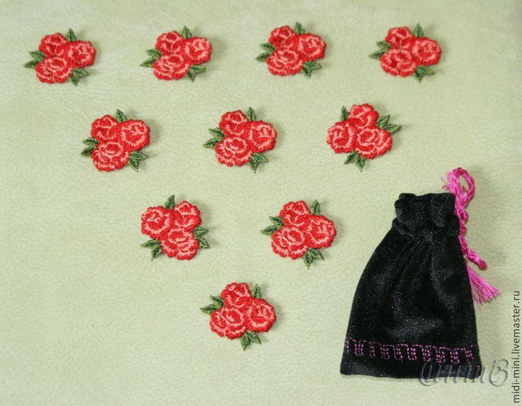 Купить вышивка набор 10 шт. роза розы розочки для скрапа для одежды - вышивка шелком