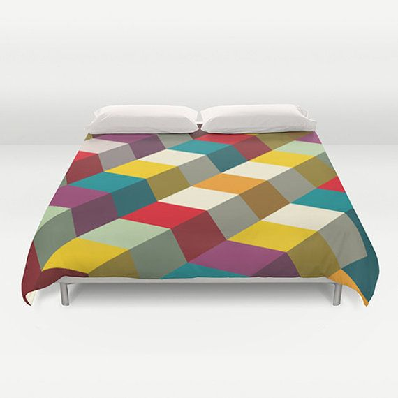 Colorful Duvet Cover Designer duvet cover Modern by thegretest, $190.00