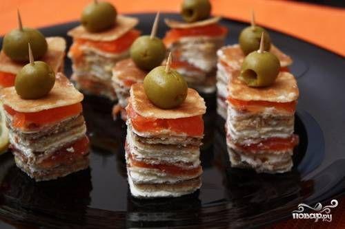 Канапе с сыром - пошаговый рецепт с фото на Повар.ру