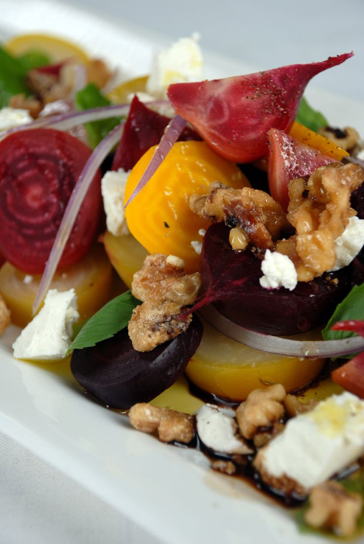 ... candied pecans beets baby greens with goat cheese beets and candied