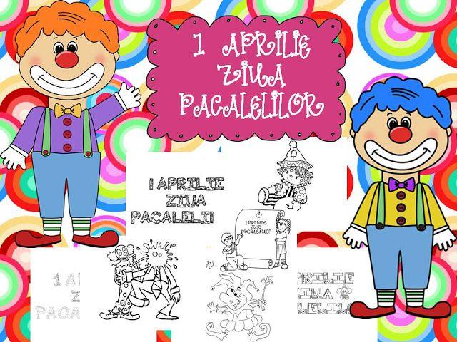 Clasa pregatitoare: 1 Aprilie fise de colorat