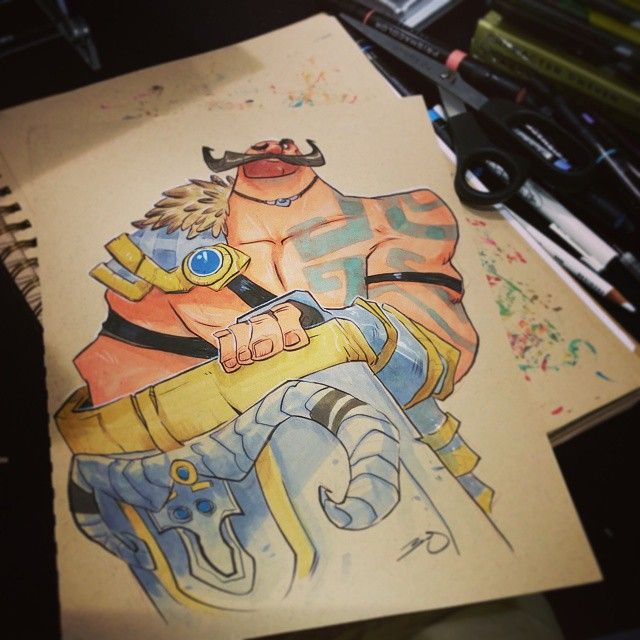 Braum commission #2dbean #art #eccc #commission #brettbean #fantasy #sketch #drawing #braum #lol #leagueoflegends  (at Washington Seattle Convention Center)