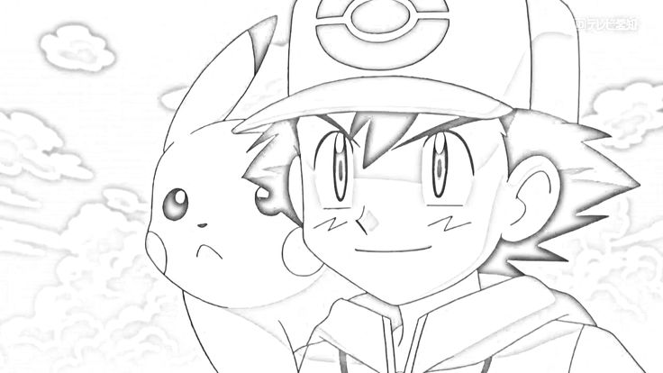 Ash and Pikachu in black and white | Black and White ...