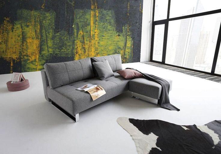 De Innovation slaapbank wordt gekenmerkt door het stijlvolle onderstel dat gemaakt is van verchroomd staal. De mooie vormen zorgen voor een eigentijdse uitstraling waardoor de design slaapbank jouw interieur meer fleur geeft.   Specificaties: Afmetingen bed: 155 x 200 Comfort: luxe excess pocketvering matras Bekleding: 100% polyester Kleur: twist charcoal grijs