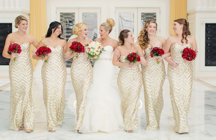 A Very Festive Red and Gold Christmas Wedding at Gaylord National Resort | Winter Wedding | Washingtonian Bride & Groom