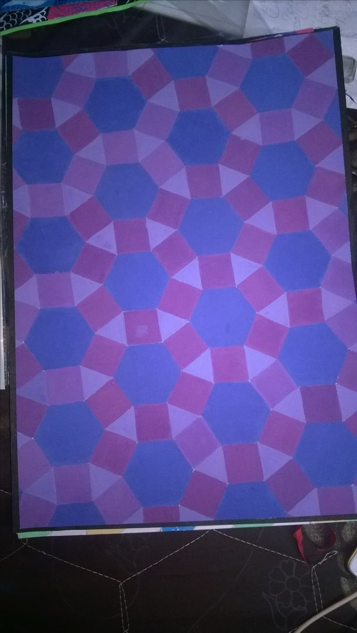 semiregular tessellation by poster colour