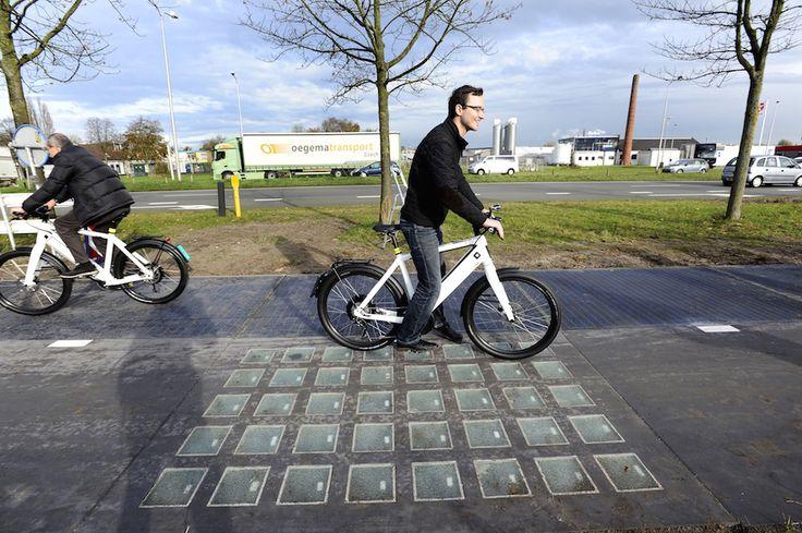 SolaRoad, in Olanda la prima pista ciclabile al mondo che produce energia pulita.
