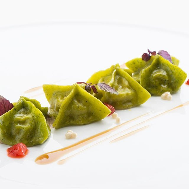 "JRE FOOD TOUR Chef JRE Luca Marchini ristorante L'Erba del Re Modena (MO)  @marchiniluca71 #jrefoodtour #jrestartoftour  #eightysevenjre  #colour #creativity #instafood #foodie #gourmet  #foodpic #foodphotografy  #amazing #delicious #theartofplating #deliciousfood  #arounditaly #enjoy  #ristorante #foodie #photooftheday  #tasteflavours @michelinstarfood #michelinstarfood #starmichelin #ferrari #emiliaromagna #modena  #rossoferrari #italia ""Ravioli di Coniglio"""
