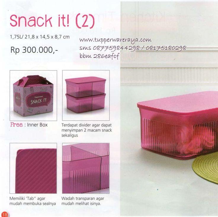 Katalog Tupperware Promo Agustus 2014 - Snack It