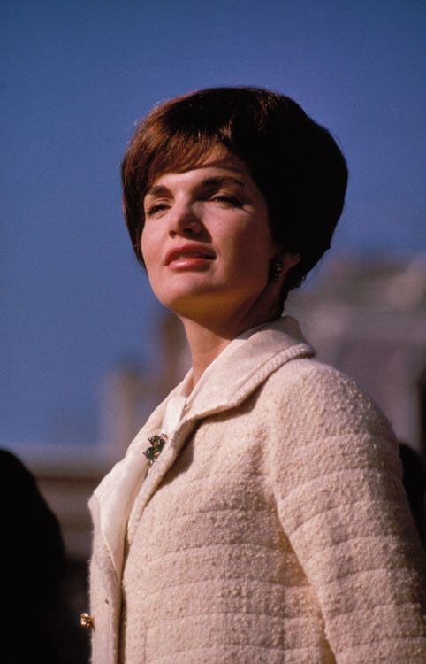 Jackie. It was this look of dignity, a stylish strength that endured her to us forever.
