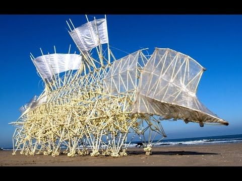 """http://www.strandbeest.com/ .... For the past 20 years, Dutch artist Theo Jansen has been perfecting a new form of life—the """"Strandbeest."""" Like a modern-day ..."""
