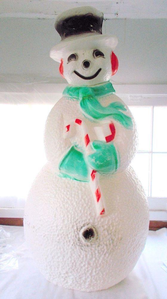 Union Blow Mold Lighted Snowman 40 Yard