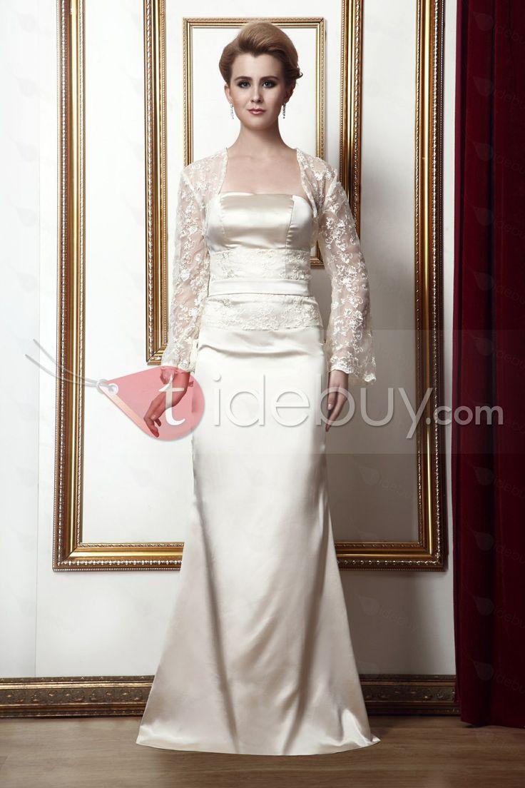 大人気スレンダー袖無床まで長さ花嫁さん母ドレス