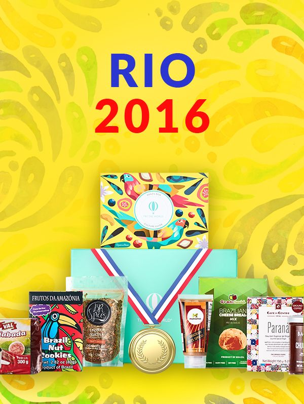 Gear up for the Olympics in Rio de Janeiro, Brazil! Try The World is celebrating the countdown to the Olympic Games 2016 with a gourmet box of delicious, authentic and artisanal food products from Brazil! Every month receive a box of local products that let you explore and experience different foods and cultures. Subscribe today to receive your Brazil Box and a FREE Sweden Box. FREE SHIPPING and tax included!