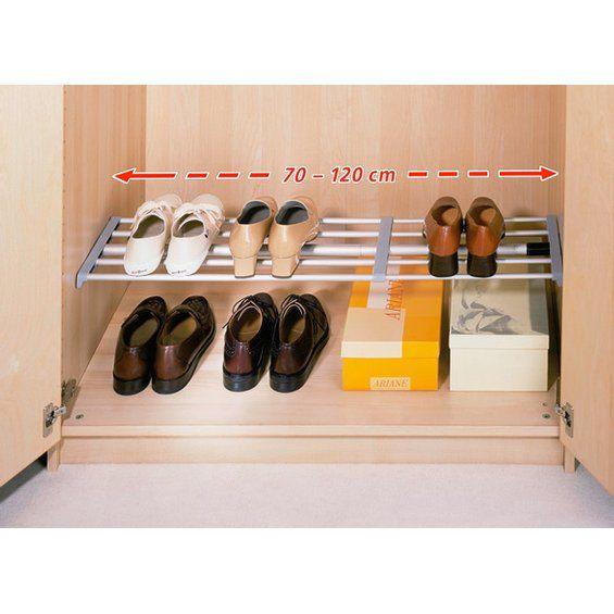 Wenko Regalsystem ohne Schrauben 70-120 x 23,5 cm im OBI Online-Shop