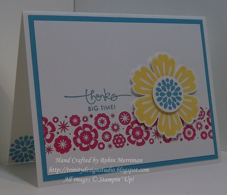 by Robin Merriman, Trinity DesignsCards Ideas, Mixed Bunch, Big Time, Stamps Sets, Mr. Big, Trinity Design, Scrapbook, Cards Su, Mixed Bouquets