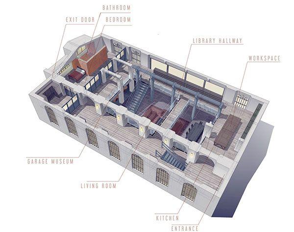 Cinema set Codice Privato by Silva Giovanni 3D model