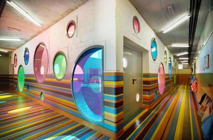 Modern Fun And Colorful Kindergarten School Building