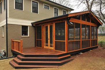 Craftsman Screened Porch | Contemporary Eclectic Modern Traditional Asian Mediterranean Tropical