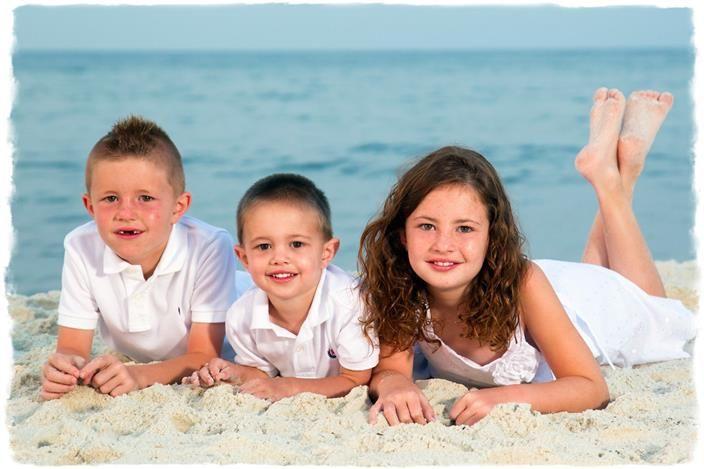 Foto idee met familie of vrienden op het strand