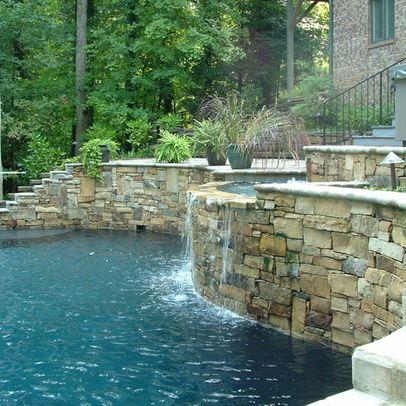 Pool on Steep Slope