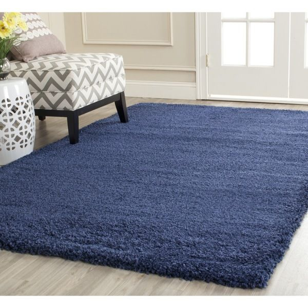 Safavieh Milan Shag Navy Rug (3' x 5') - Overstock™ Shopping - Great Deals on Safavieh 3x5 - 4x6 Rugs