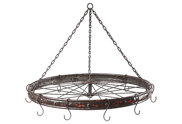 Bicycle Wheel w/ Hooks on OneKingsLane.com Not because I want to buy it, but because I can make this!
