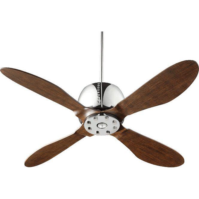 """52"""" Refined Contemporary Ceiling Fan walnut"""