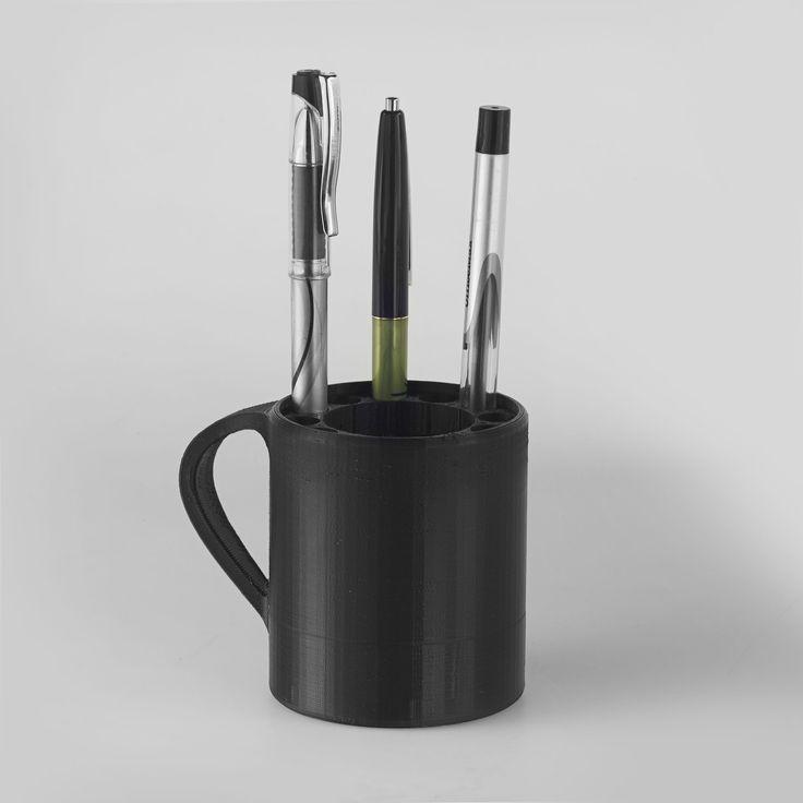 Create an organization mug for your desk and never lose another pen!  https://3dprinter.dremel.com/3d-printing-model/organizer-mug