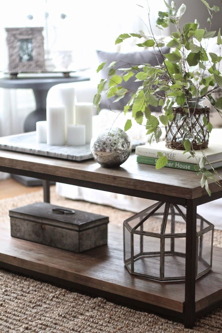 Living room table decorations - 3 Ways To Style A Coffee Table