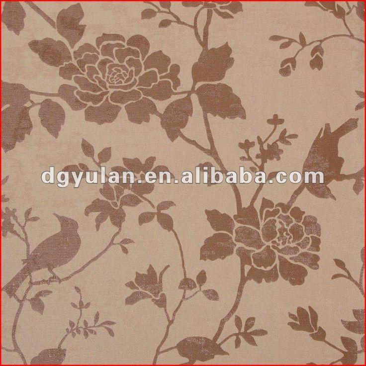 elegante de color marrón de papel tapiz floral fresco diseño de vinilo que cubre la pared-Papeles Pintados / Recubrimientos de Pared-Identificación del producto:598835790-spanish.alibaba.com