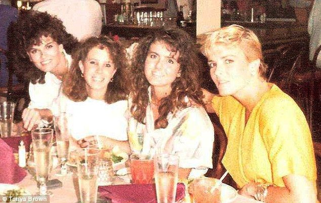 Nicole Brown Simpson with her sisters - Denise, Tanya & Dominique - in happier times