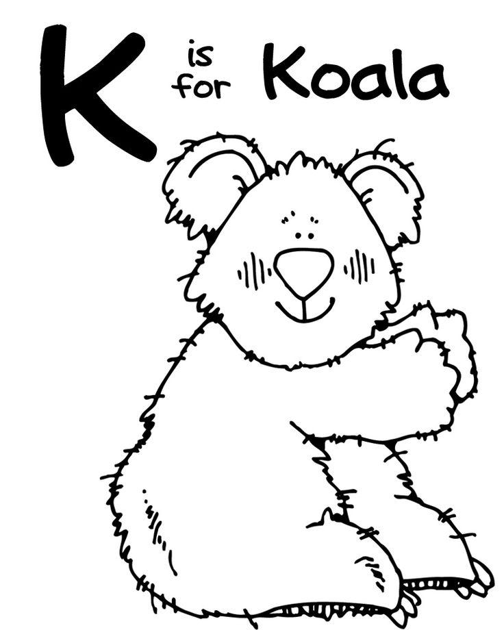 Alphabet Letter K Koala Preschool Lesson Plan Printable