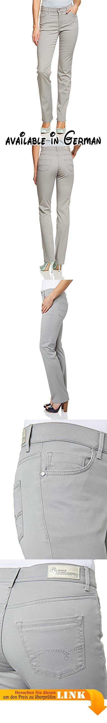 "Pioneer Damen Straight Leg Hose KATE, Gr. 46/L34, Grau (grey 82). Perfekt kombinierbar. Passform ""Regular Fit"". Toller Feintwill Powerstretch. Allrounder für den Sommer. Angenehmes Tragegefühl #Apparel #PANTS"