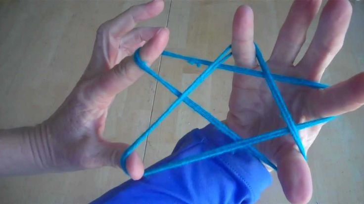 How to make a Star with string, step by step, cats cradle