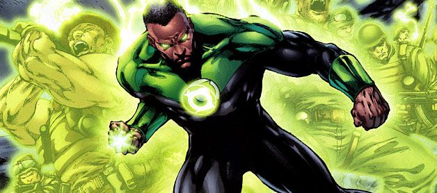 John Stewart replaces Hal Jordan as Green Lantern in the Justice League, and despite being a very popular character, has never made a live action appearance. Description from moviepilot.com. I searched for this on bing.com/images