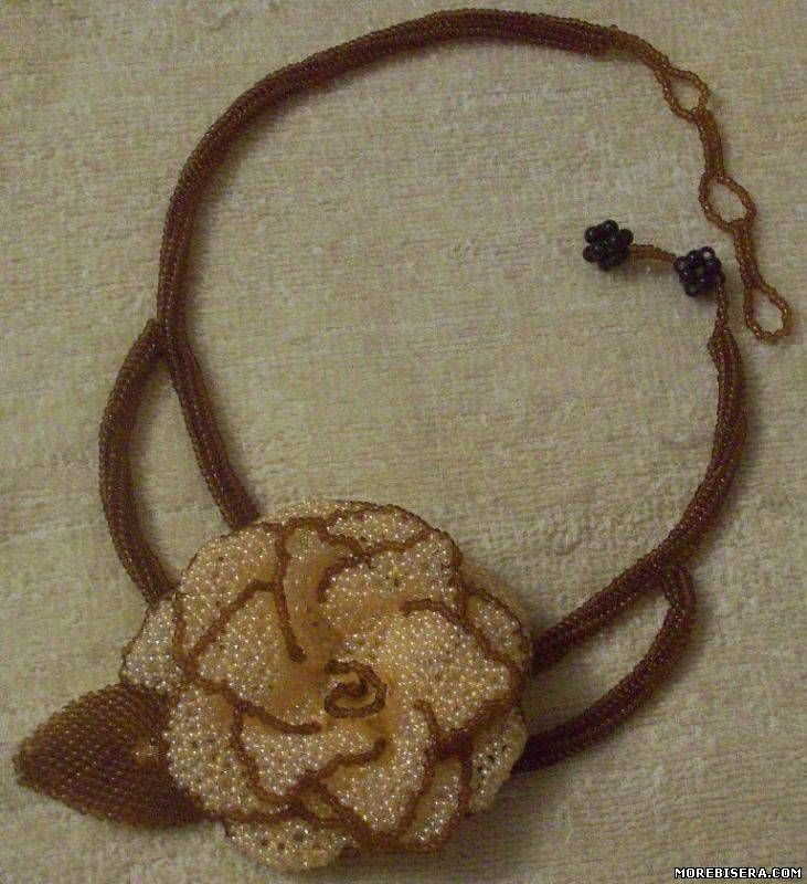 Beads Necklaces, Rose Flower,