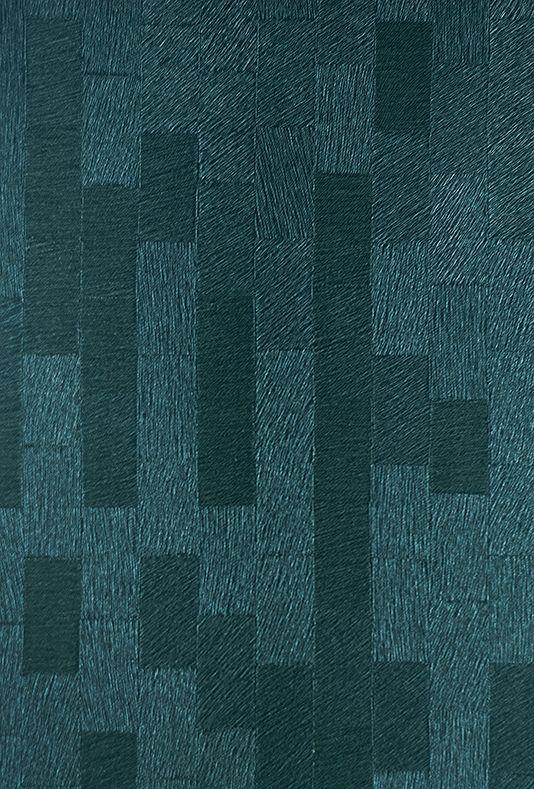 Quokka Wallpaper Dark Teal Textured Geometric Block Design