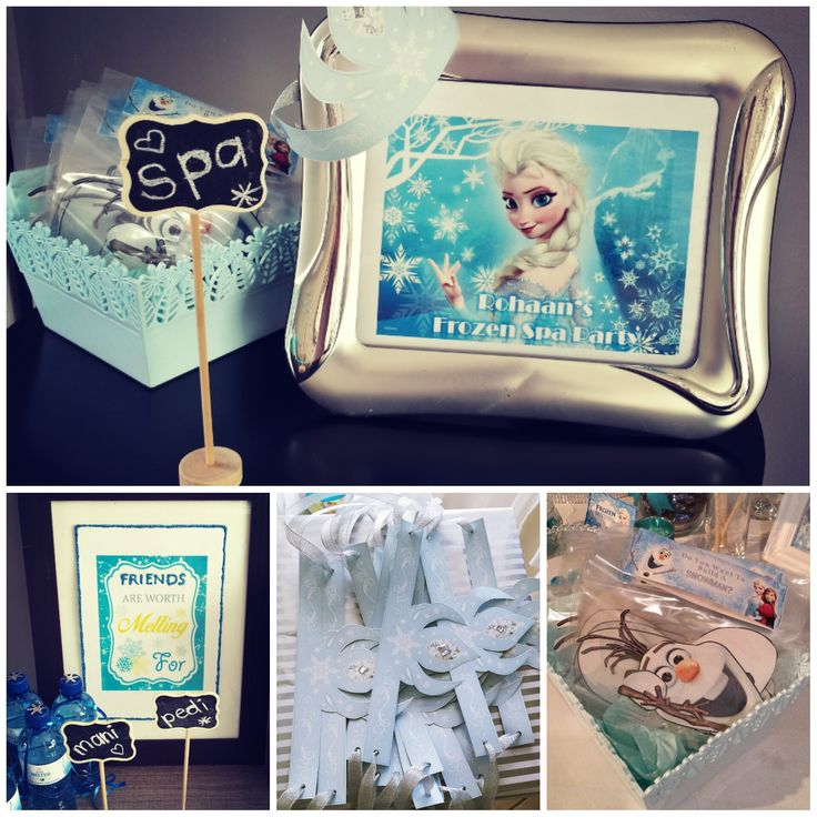 frozen themed spa pamper party